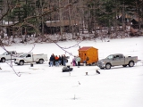 <h5>Ice Fishing!</h5><p>Lake Dunmore is home to a much loved and anticipated annual ice fishing tournament and you can watch right here from the lodge!																																																																				</p>