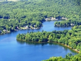 <h5>North Cove - Lake Dunmore</h5><p>Beautiful aerial shot of the North Cove of Lake Dunmore in summer. 																																																																				</p>